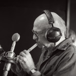 David Liebman with small wooden flute